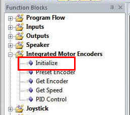 Initialize Encoders