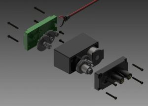 Motor opened from both sides